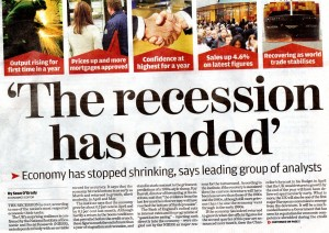 The Recession has Ended - 11th June 2009