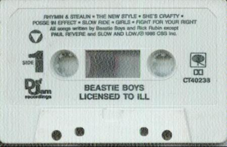 Beastie Boys - license-to-ill-cassette