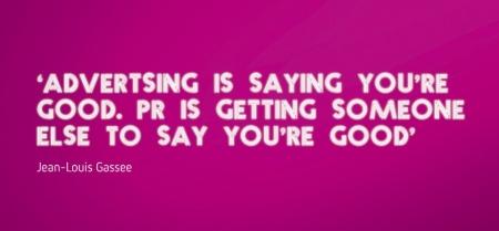 PR versus advertising