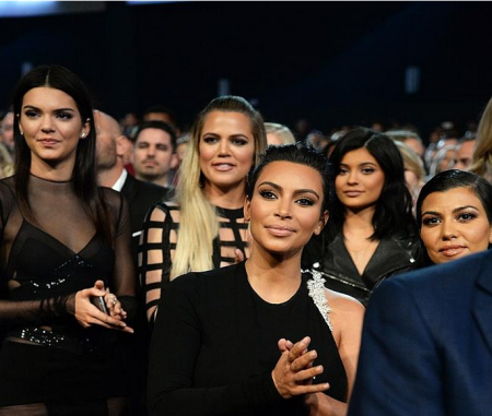 Kim Kardashian cheering on Caitlyn Jenner at Arthus Ashe Awards