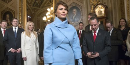 Melenia Trump wearing Ralph Lauren