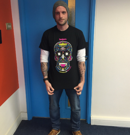 Boojum t-shirt modelled by Paul Wade, Fuzion Design