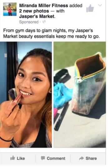 Facebook - Influencer posts
