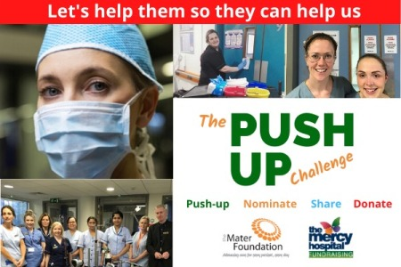 Push Up Challenge, Mercy Hospital Foundation